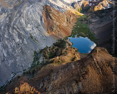 Evening light on canyon of metamorphic rock, John Muir Wilderness