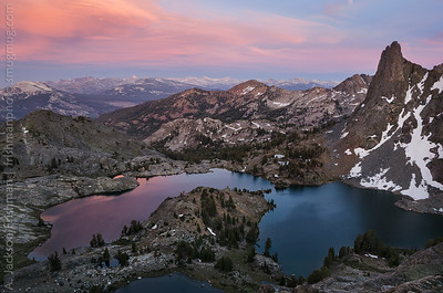 Sunset above Minaret Lake, Ansel Adams Wilderness, California, June 2014.
