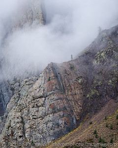Storm clouds shroud the metamorphic walls of McGee Creek Canyon, September 2014.