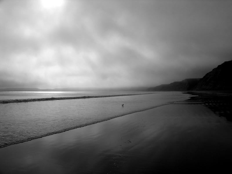 Image 48  Fog over Drake's Beach, Pt. Reyes CA