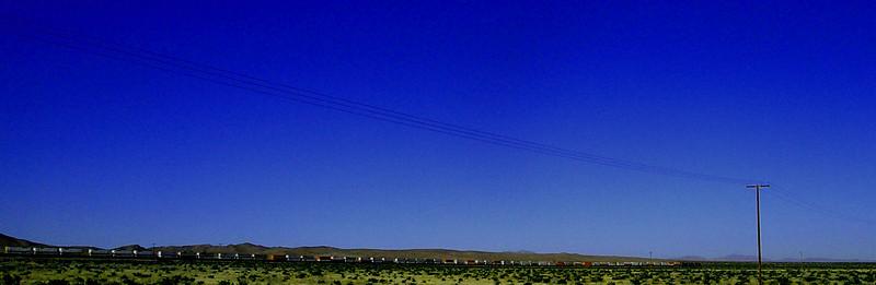 Image #33  Westbound train, Mojave Desert