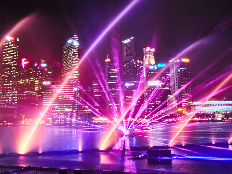 Light Show and Skyline - Singapore