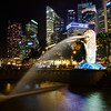 The Merlion and Skyline - Singapore