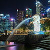 Merlion and Skyline - Singapore