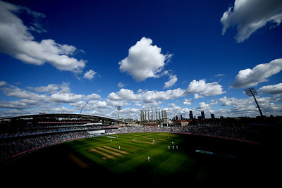 A general view of play during day one of the Specsavers 5th Test match between England and India at The Kia Oval on September 7, 2018 in London, England.
