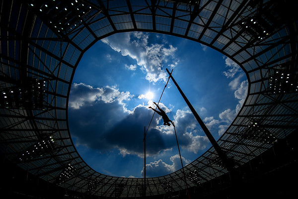 Scott Houston of The United States competes in the Men's Pole Vault during Day One of the Muller Anniversary Games at London Stadium on July 21, 2018 in London, England