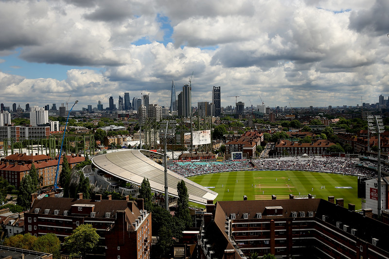 The Oval amongst the city skyline during day four of the 3rd Investec Test match between England and South Africa at The Kia Oval on July 30, 2017 in London, England.