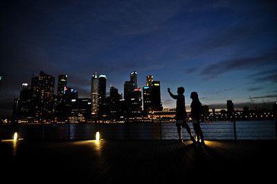 Picturesque.  Location ~ Marina Bay Sands.