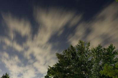 Slow exposure sky. Earth