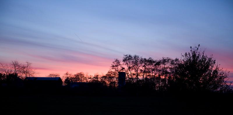 Sunset at Bookmark Farms. Pataskala, Ohio