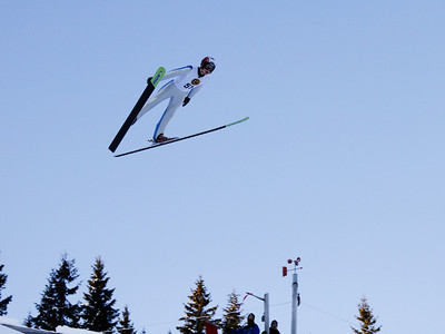 Mats Berggaard in Lundbybakken K-90, Hurdal, in a Norwegian Cup competition