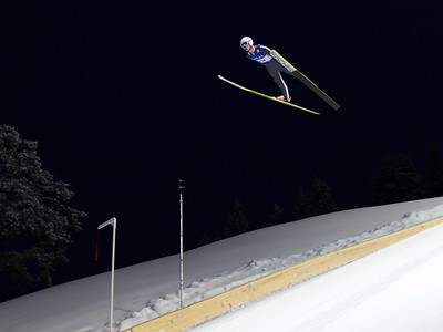 Test jumping in the new hill before the World Cup event (Joachim Hauer)