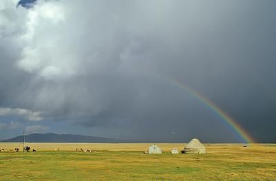 Song Köl lake, Kyrgyzstan, Silk Road