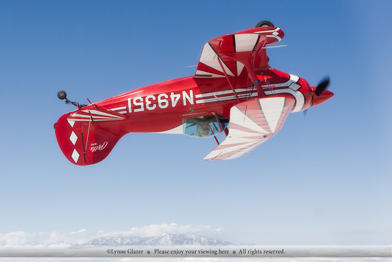 Mt. Baldy on a sunny day to play with shooting aerobatics.
