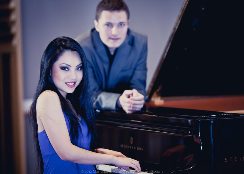 Chello Player Tina Guo and Piano artist Ciprian Costin