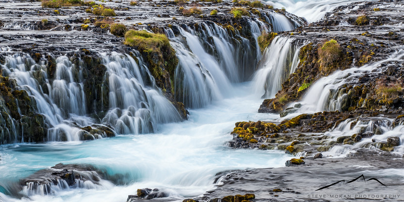 Close-up of Bruarfoss, in south Iceland.