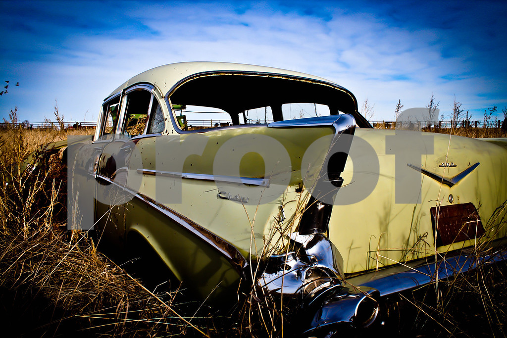 An old car found out by Trail City, SD.