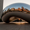 "<strong><Center>""Cloud Gate"" by  Anish Kapoor, reflecting the Chicago Skyline  <br> The sculpture is nicknamed ""The Bean"" because of its bean-like shape. Made up of 168 stainless steel plates welded together, its highly polished exterior has no visible seams. It is 33 by 66 by 42 feet (10 by 20 by 13 m), and weighs 110 short tons (100 t; 98 long tons). And is a wonderful joy in the Millennium Park of Chicago, Illinois."
