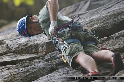 "erich climbing in the ""gunks"""