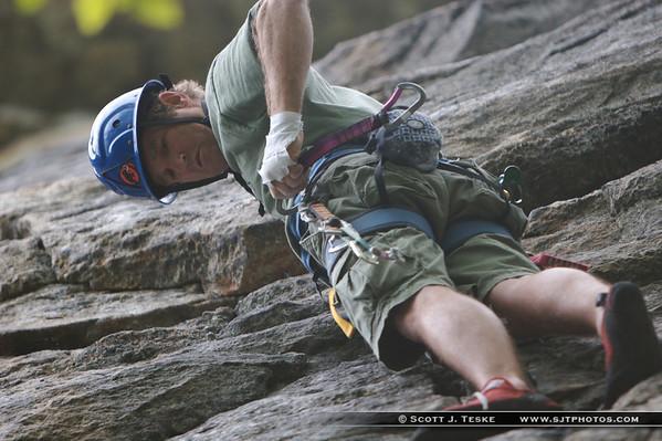 "erich climbing in the ""gunks"""