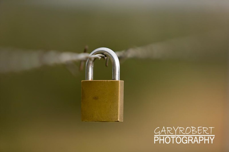 Lock on Barbed Wire