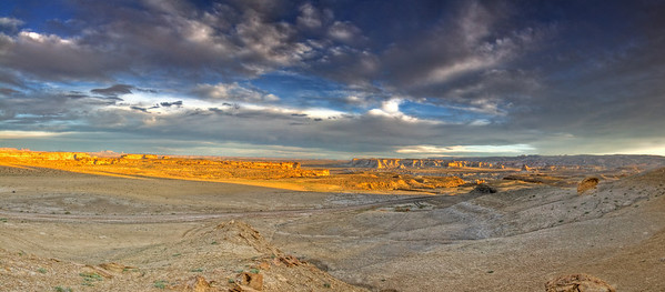 Panoramic view of the desert outside of Page , Arizona.