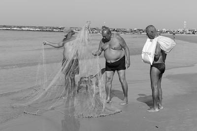 Fishermen at Bat Yam Beach