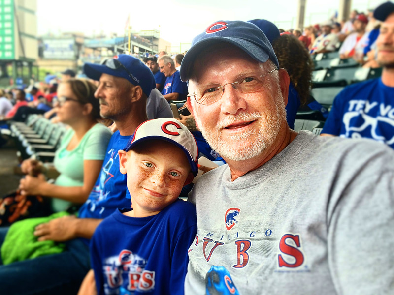 Grandson's first Cubs game!