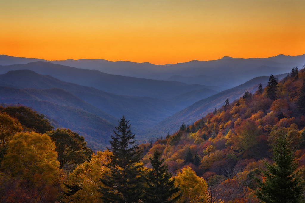 Sunrise in the Smokies (Smoky Mountain National Park)