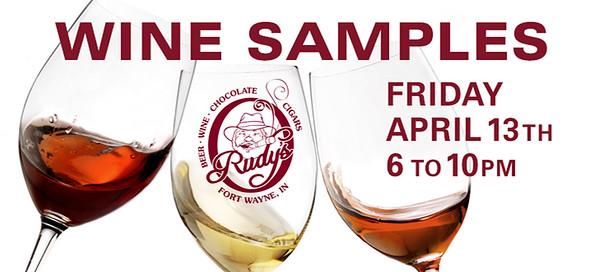Rudy's Wine Samples Night post