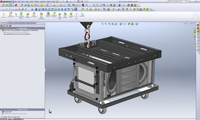 Using Advanced SolidWorks Configurations to create radically simplified versions of a complex master assembly in matter of seconds. This second example shows how the previous, highly detailed master assembly, was easily converted into a simplified 3D model (suitable for public use) within a matter of seconds by using a series of powerful nested configurations at the part level of every component.