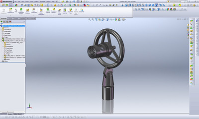 "This cardioid microphone assembly was modeled directly from a physical object using only a pair of digital calipers for measurement. Each individual piece was modeled as a separate SolidWorks ""Part"" and then mated to created this complete 3D assembly."
