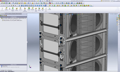 Mechanical Assembly Cutaway. In this example, I'm showing how I use SolidWorks configurations to create alternate versions of a part within the same assembly in order to generate cutaway illustrations of mechanical features.