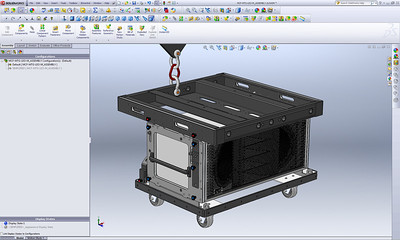 Using Advanced SolidWorks Configurations to create radically simplified versions of a complex master assembly in a matter of seconds. This first example shows a highly detailed master assembly, but notice how the next image is the exact same model only stripped of all details. This technique makes the creation simplified 3D models for public use incredibly easy to generate directly from complex master assemblies.