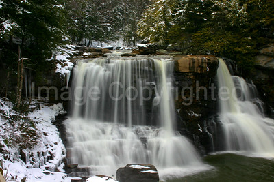 Blackwater Falls with Snow