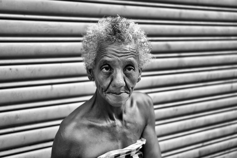 Anciana indigente