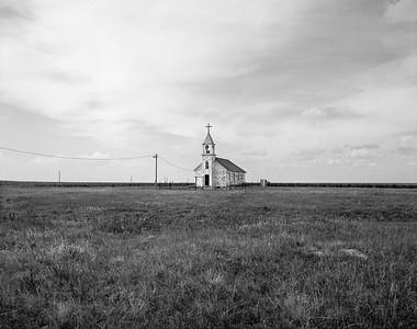 Abandoned Church Pine Ridge Reservation, South Dakota