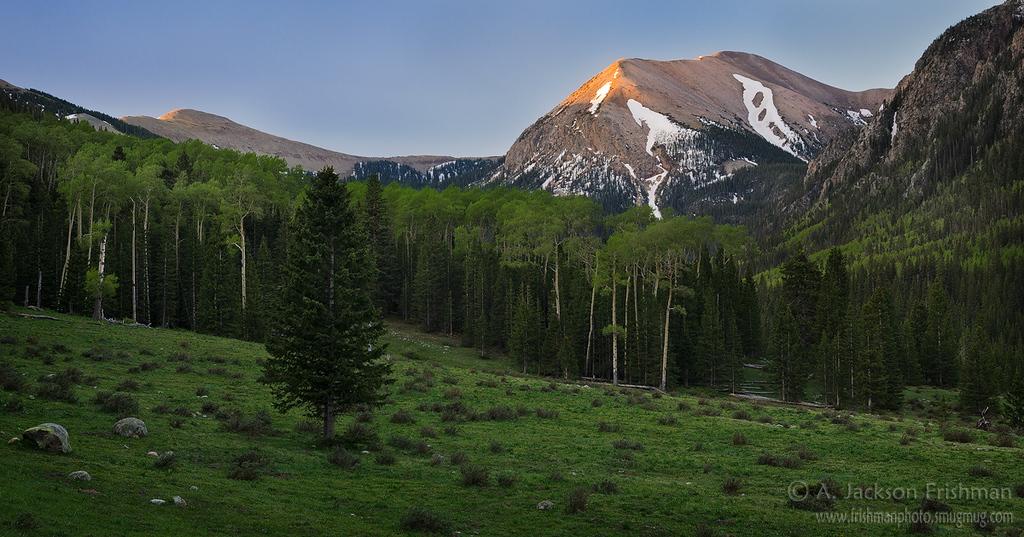 Dawn on Chimayosos Peak, Pecos Wilderness, New Mexico, May 2012.