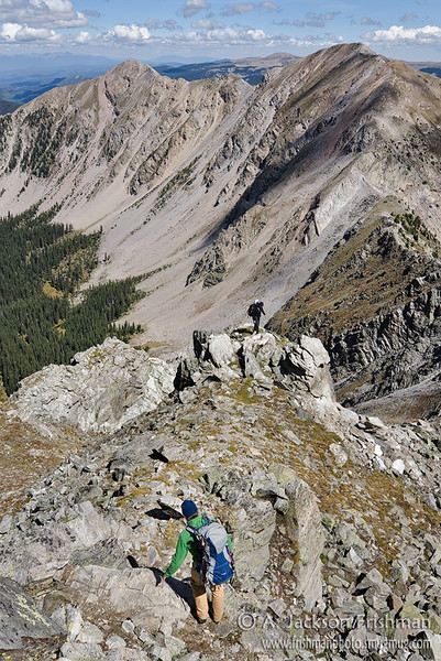 Hiking in the Truchas Peaks, Pecos Wilderness, New Mexico, September 2011.
