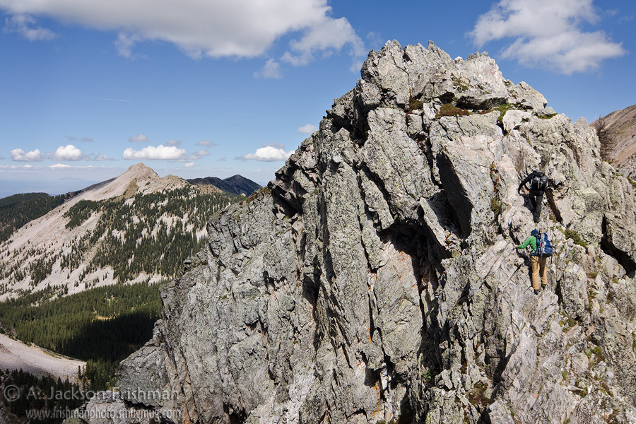Scrambling in the Truchas Peaks, Pecos Wilderness, New Mexico, September 2011.