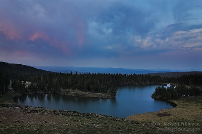 Sunset over Horseshoe Lake, Pecos Wilderness, New Mexico, June 2012.