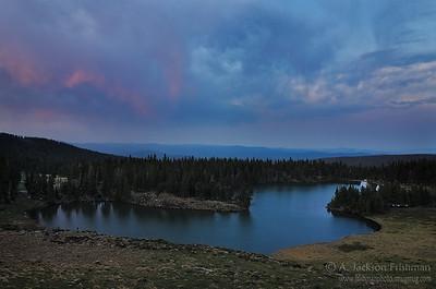 Sunset over Horseshoe Lake, Pecos Wilderness, New Mexico, June 2012.