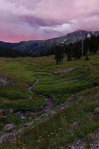 A stormy evening in the Middle Fork Conejos valley.