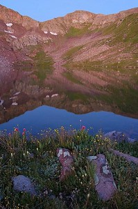 Before sunrise at Lake Ann, just east of the Continental Divide.