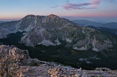 Day dawns over Middle Truchas Peak and Rio Quemado Basin, Pecos Wilderness, New Mexico, September 2011.