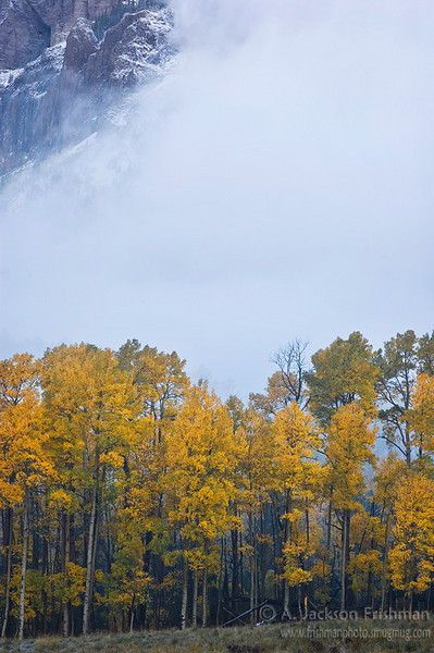 An early storm in Colorado's Chama Basin, October 2010.