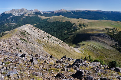 Trailriders' Wall and the Truchas Peaks from East Pecos Baldy, Pecos Wilderness, New Mexico, September 2011.