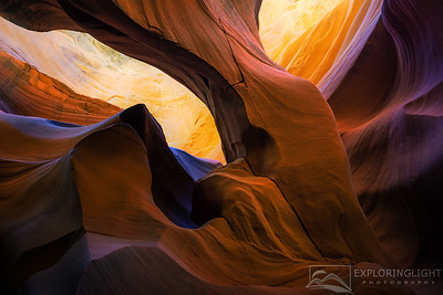 """TIME FLOWS BY""ArizonaA unique and unexpected arch formed deep within a remote slot canyon in the Arizona desert.© Chris Moore - Exploring Light PhotographyPURCHASE A PRINT"