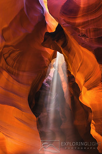 """GUIDING LIGHT""Upper Antelope Canyon, AZArizona's Upper Antelope Canyon boasts colorful sandstone and beautiful rays of light.© Chris Moore - Exploring Light PhotographyPURCHASE A PRINT"