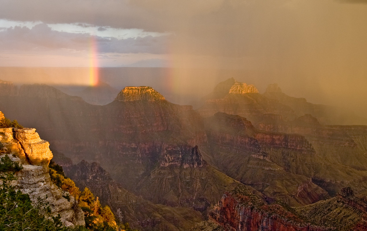 Sunset Rainbow Grand Canyon, Arizona